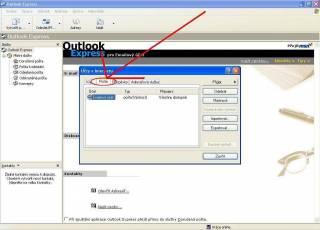 Změna nastavení poštovního účtu - Outlook Express
