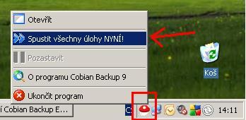 Cobian Backup - ručně