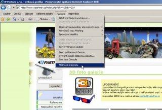 Vymazání cache prohlížeče - Microsoft Explorer 8